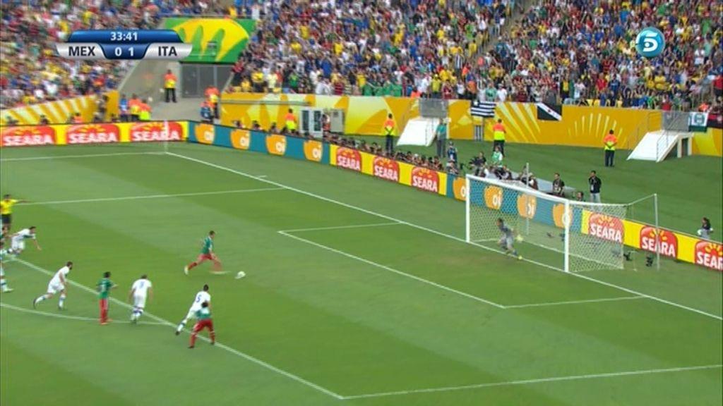 Gol de Chicharito (México 1-1 Italia)