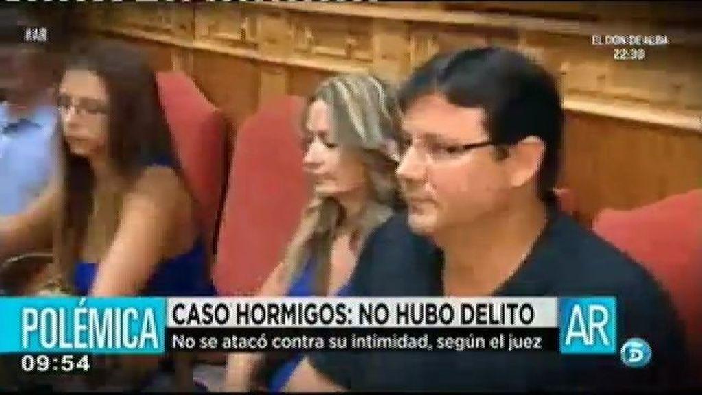 El juez considera que no hubo delito contra la intimidad de Olvido Hormigos