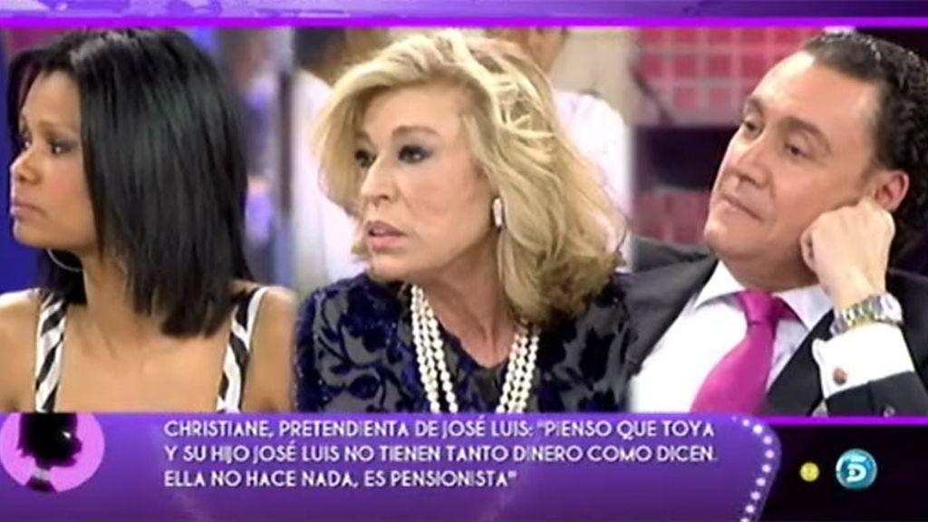 Toya acusa a Christiane de buscar la fama