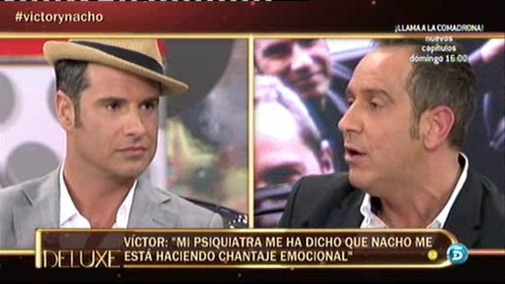 """Víctor Sandoval: """"Mi psiquiatra dice que Nacho me está haciendo chantaje emocional"""""""