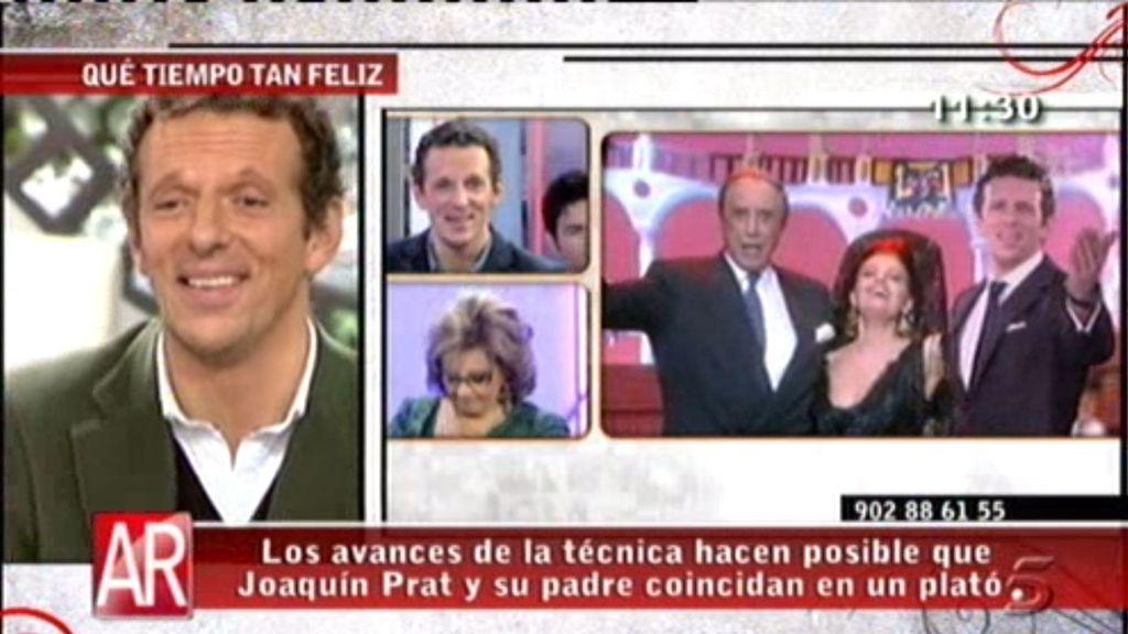 Joaquín Prat canta con su padre y María Teresa Campos
