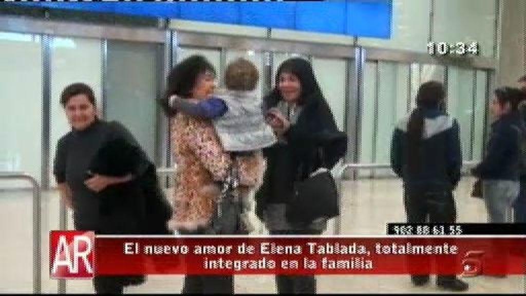 El novio de Elena Tablada, totalmente integrado en la familia