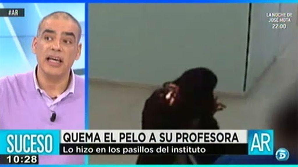 Un adolescente en Cádiz quema el pelo de su profesora