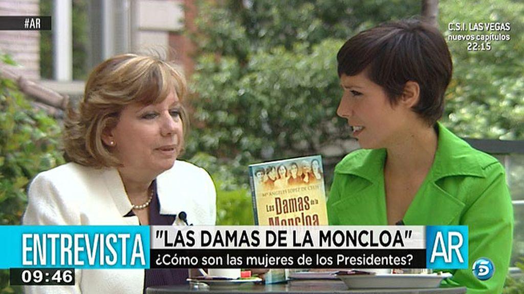 """Mª Ángeles López, sobre las mujeres de la Moncloa: """"Junto a un gran hombre siempre hay una mujer, a veces, mucho más grande"""""""