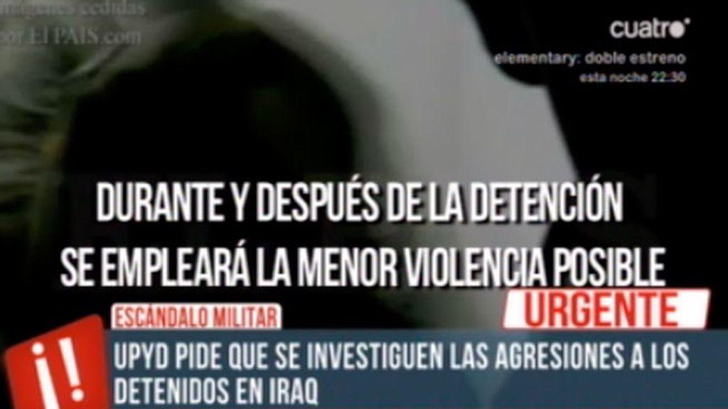 UPYD pide que se investiguen a los detenidos en Iraq