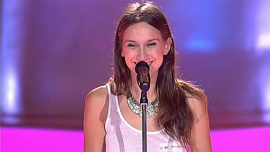La actuación de Ainhoa Aguilar: 'Am I telling you'