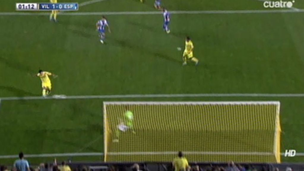 Gol de Perbet (Villarreal 1-0 Espanyol)