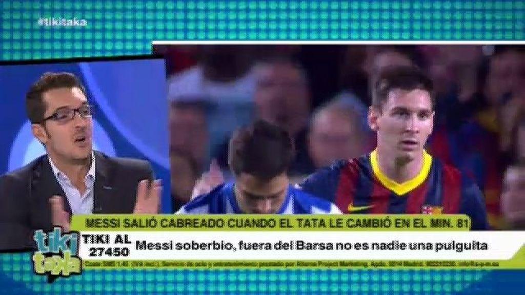 """Látigo Serrano, sobre el enfado de Messi: """"Este tipo de cosas son de niñato"""""""