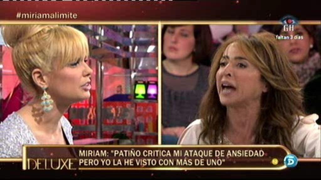Gran bronca entre Patiño y Miriam Sánchez