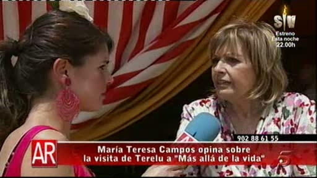La Campos no habla de Más allá...