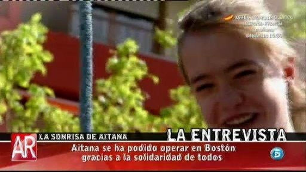 Aitana ha regresado a España tras someterse a una segunda operación en Boston