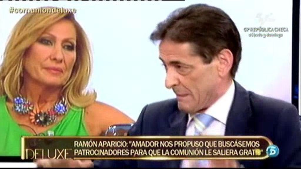 """Ramón Aparicio: """"Amador quería que la comunión de su hijo le saliera gratis"""""""