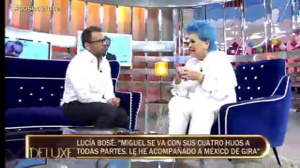 """Lucía Bosé: """"No ha mejorado la relación con mi hijo pero sí es más comprensivo"""""""