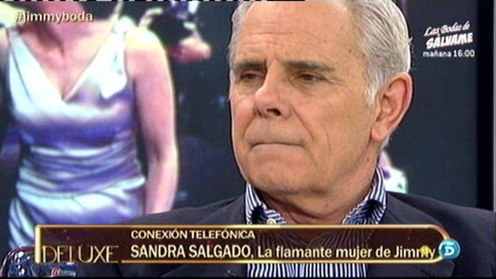 Sandra sorprende a Jimmy en directo
