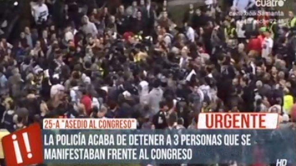Tres detenidos en el 'asedio al Congreso'