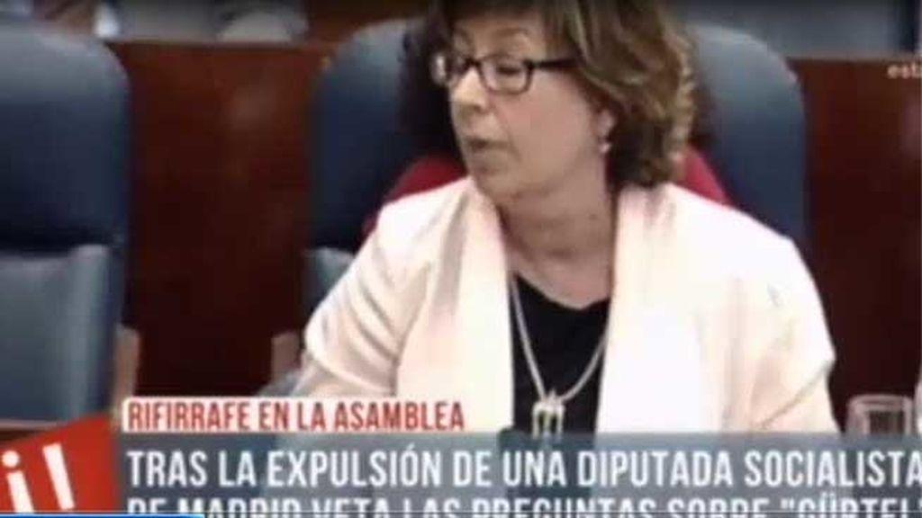 Maru Menéndez expulsada tras llamar corrupto a Ignacio González