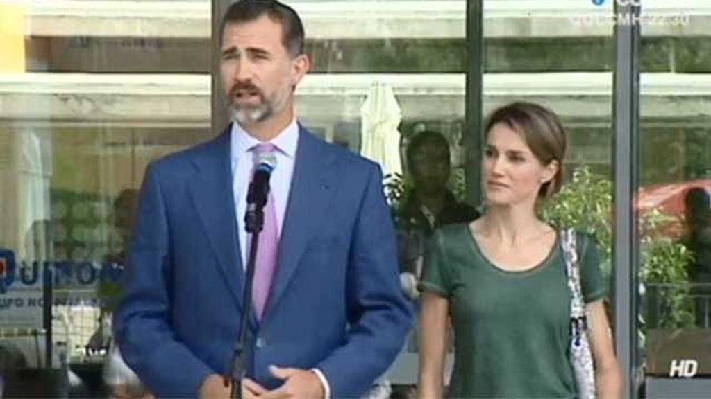 Los Príncipes de Asturias, la Reina y la Infanta Elena y Cristina visitan al Rey