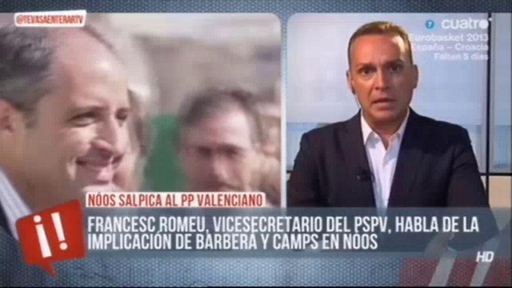 """Fransec Romeu: """"Rita, Fabra y Rajoy han tenido secuestrada la Comunidad Valencia"""""""