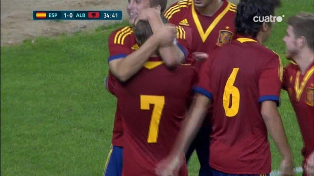 Muniain adelanta a España ante Albania