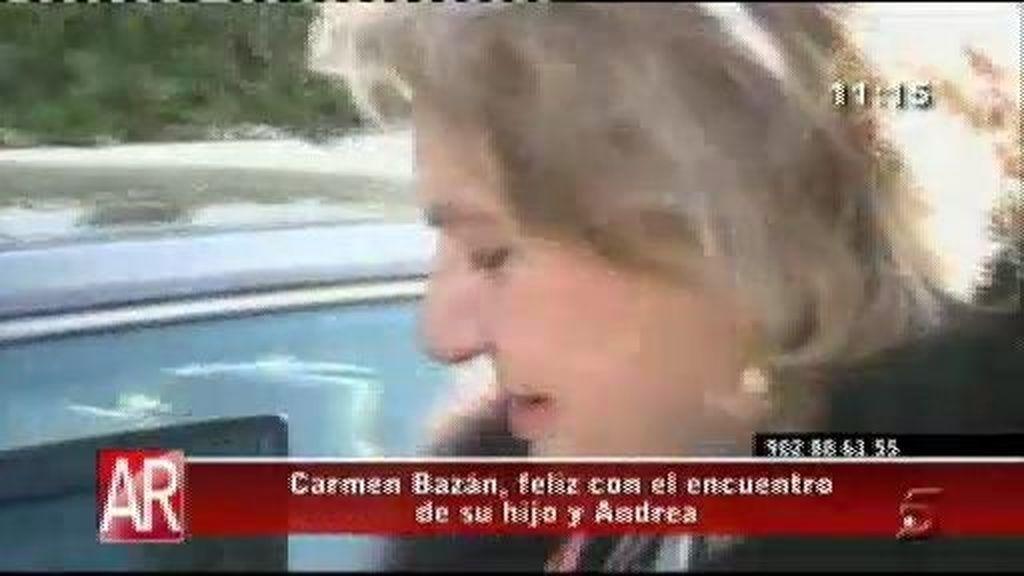 Carmen Bazán, feliz con el reencuentro de Jesulín y Andrea