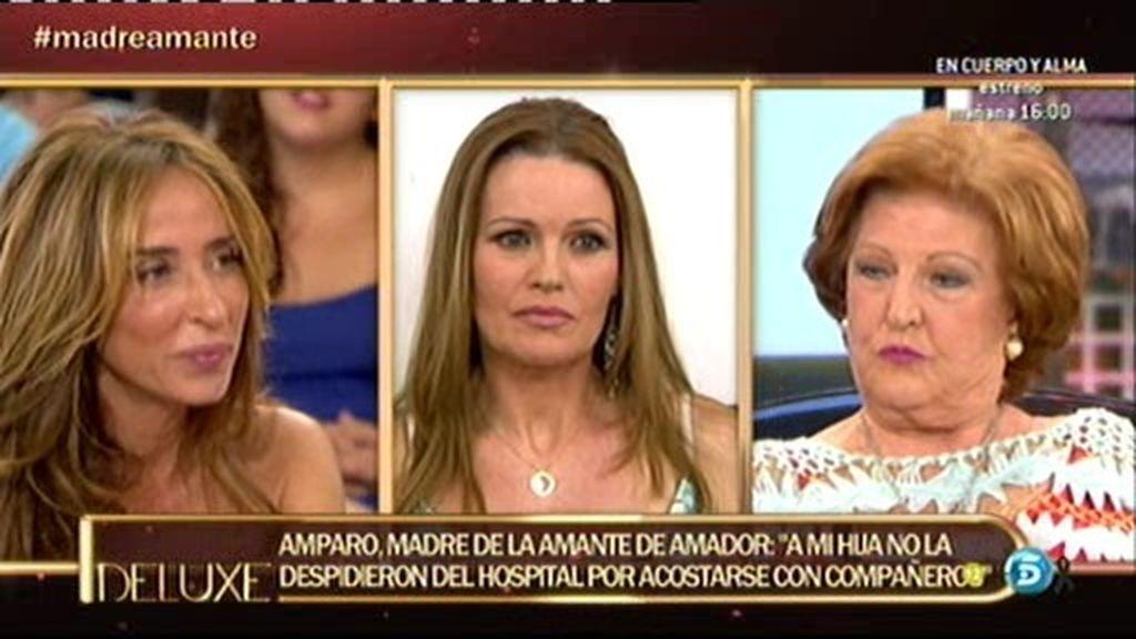 """Amparo, madre de la amante Amador: """"Mi hija perdió el trabajo por no ir"""""""