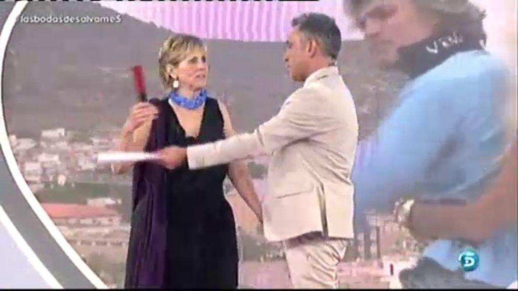Mercedes Milá, asistente de lujo en la boda de Pedro y Susana