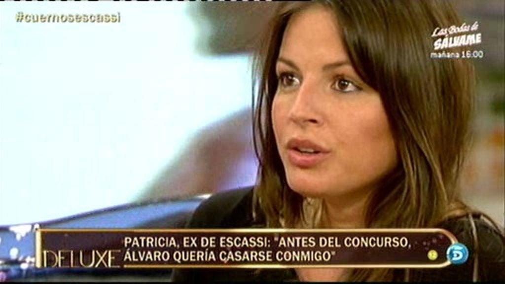 """Patricia, ex de Escassi: """"Álvaro es un interesado, inestable y embaucador"""""""