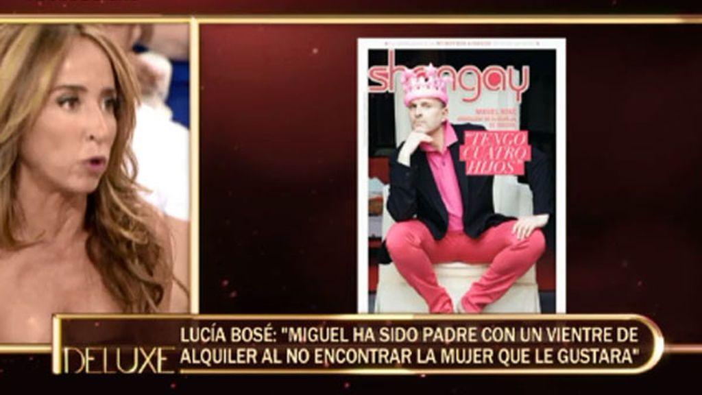 """Lucía Bosé: """"Miguel tiene reconocida la paternidad de sus cuatro hijos"""""""
