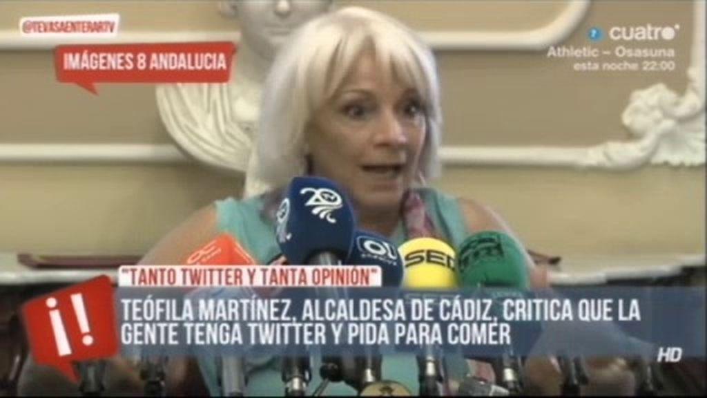 """Teófila Martínez: """"La gente que pide comida luego tiene cuenta en Twitter"""""""