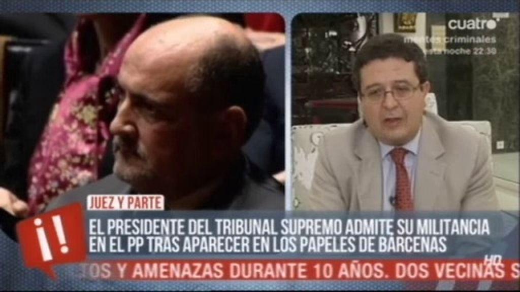 "Francisco Serrano: ""El poder judicial en España está politizado"""