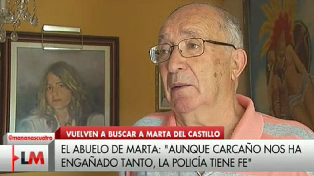 """El abuelo de Marta: """"La policía tiene fe que entre tantas mentiras hay verdad"""""""