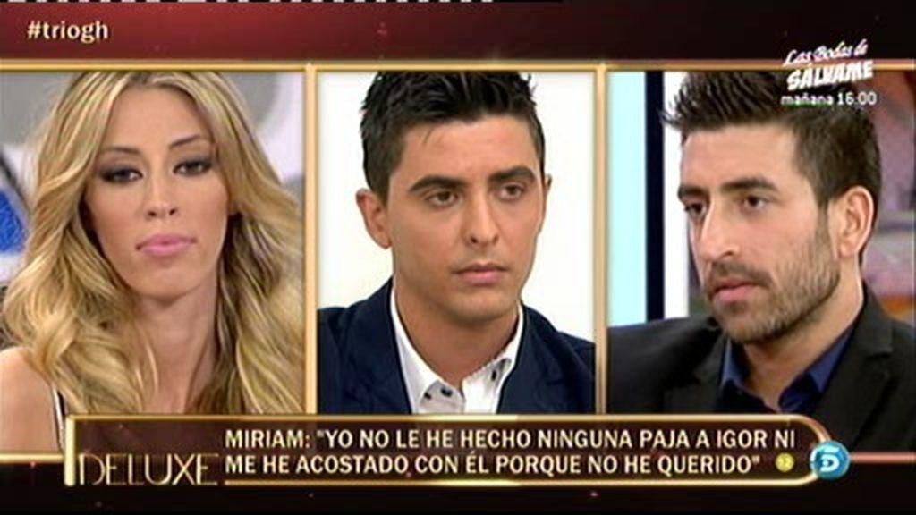 """Miriam: """"Estoy harta de que se haya dicho que me lie con Igor"""""""