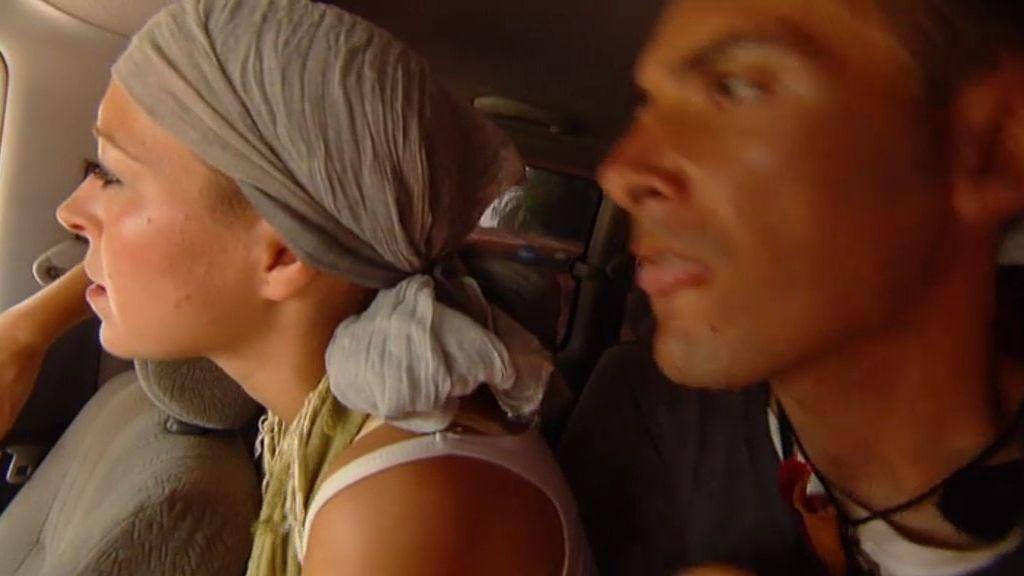 David, a punto de pegar a su taxista