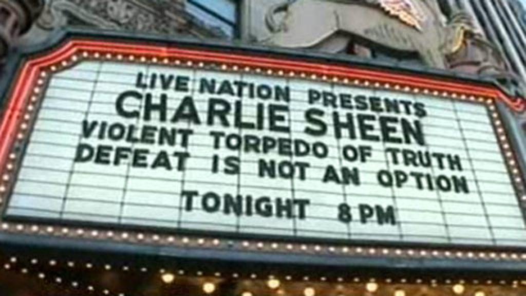 Charlie Sheen, abucheado