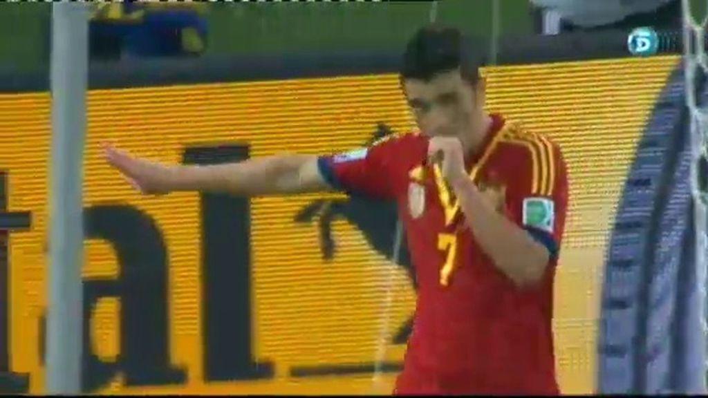 Gol: España 7-0 Tahití (Min.64)