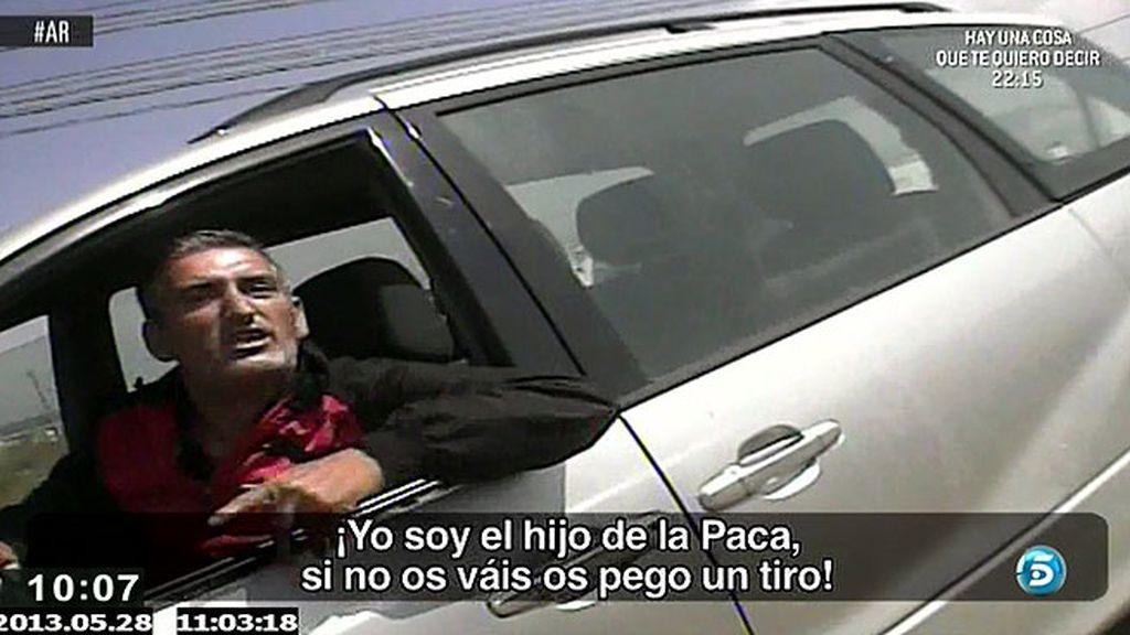 Un equipo de reporteros de 'AR', amenazados por el hijo de 'La Paca'