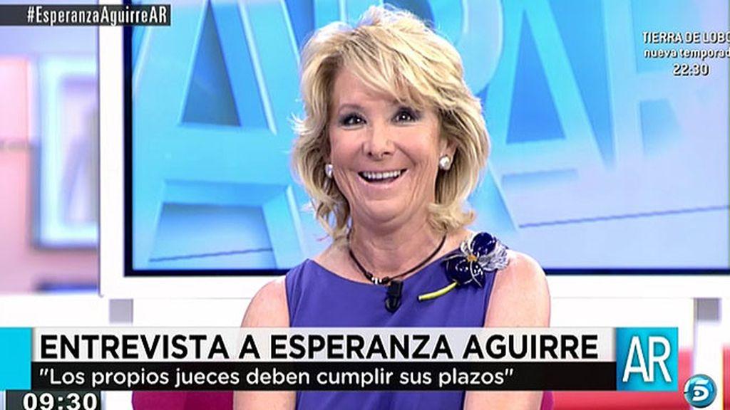 """Esperanza Aguirre: """"Corruptos hay muchos, lo importante es qué hacer con ellos"""""""