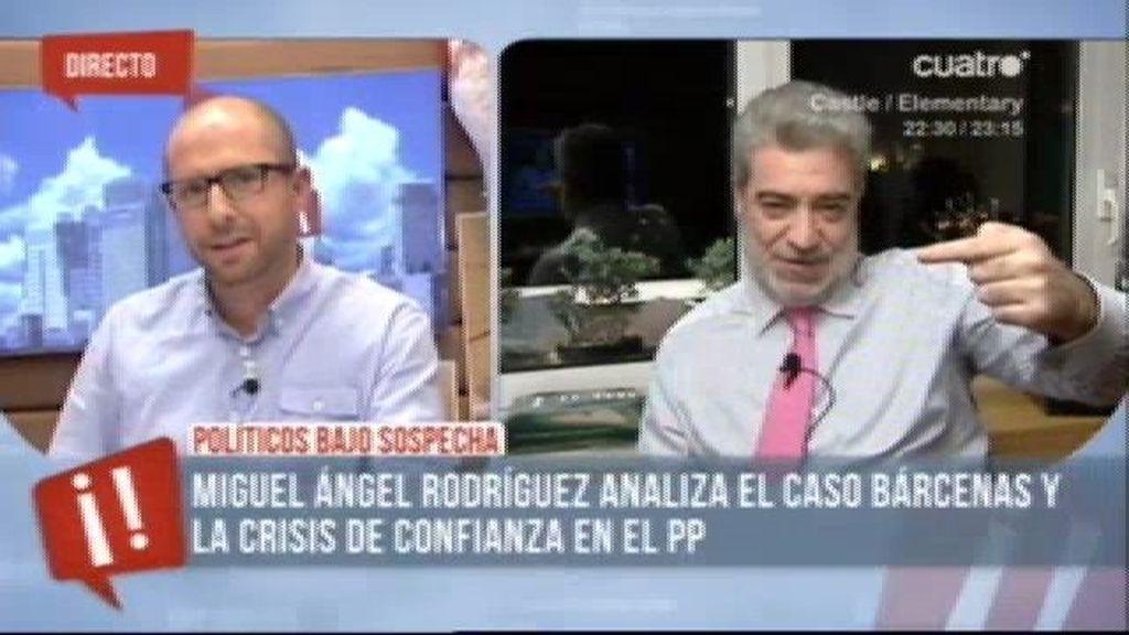 """Miguel A. Rodríguez: """"Que Bárcenas tenga otra cuenta en Suiza me parece vergonzoso"""""""