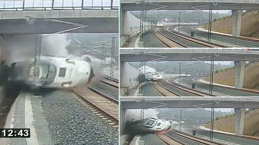 Así fue el accidente del tren Alvia en Santiago de Compostela