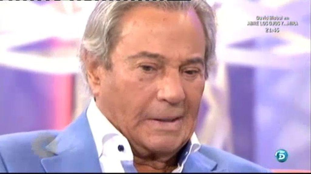 Arturo Fernández no puede contener las lágrimas al recordar a su padre