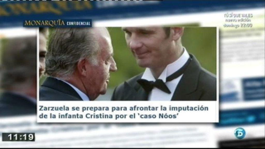 Zarzuela se prepara para afrontar la imputación de la Infanta, según 'Monarquía confidencial'