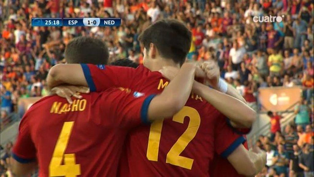 Gol: España 1-0 Holanda (min.26)