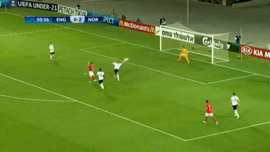 Gol: Inglaterra 0-3 Noruega (min.52)