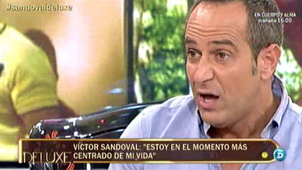 """Víctor Sandoval: """"Nunca le había visto a Karmele la cara lavada, qué fea"""""""