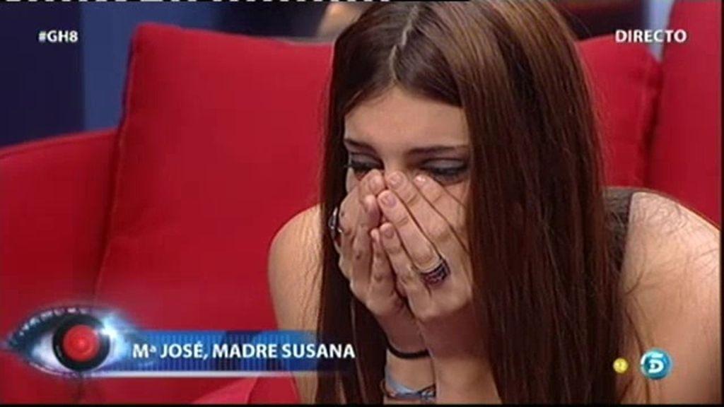 Susana habla con Mª José, su madre