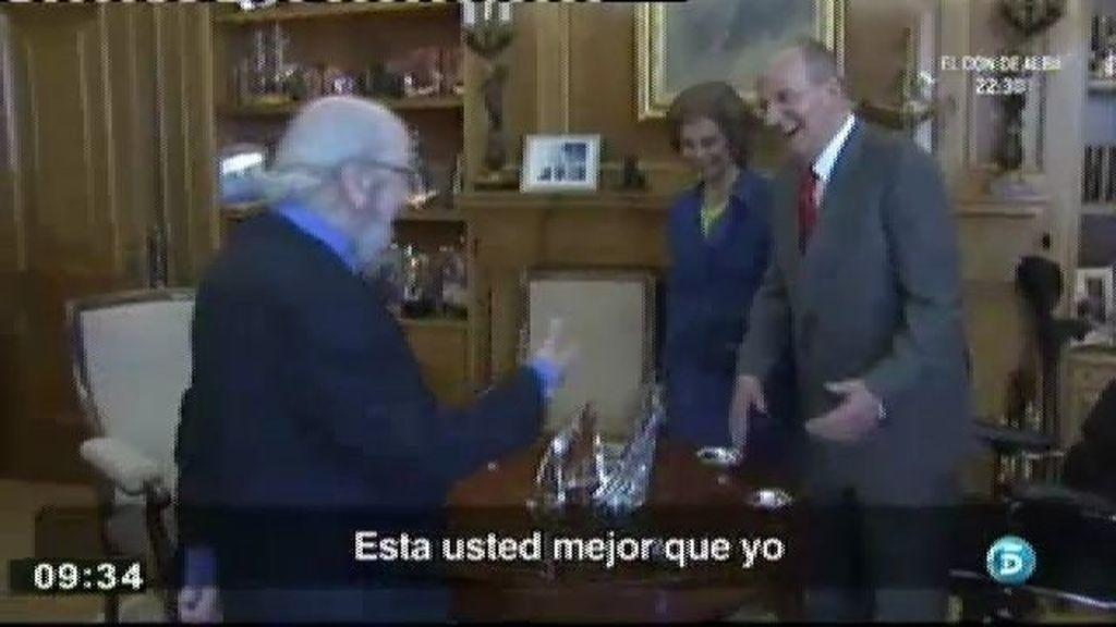 """Don Juan Carlos, al escritor Caballero Bonald: """"He estado en las últimas pero ya estoy recuperado"""""""