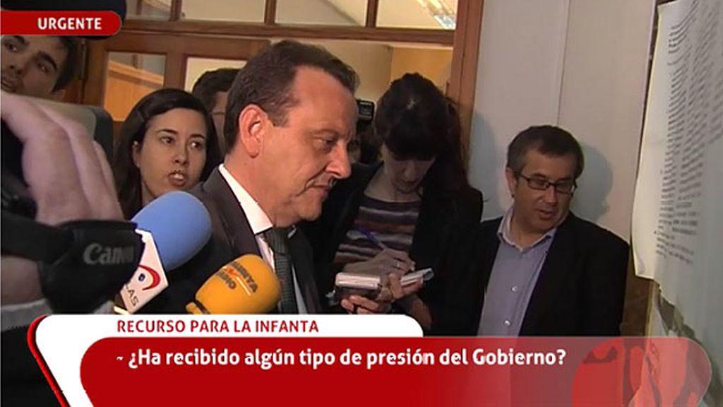 """Pedro Horrach: """"No hay distanciamiento con el juez, solo una discrepancia"""""""