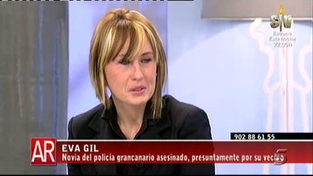 Eva Gil, novia del policía muerto