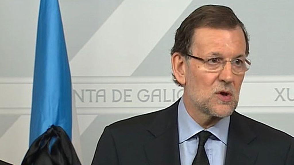 """Mariano Rajoy: """"Las familias de las víctimas no van a estar solas, cuentan con la solidaridad de los españoles"""""""