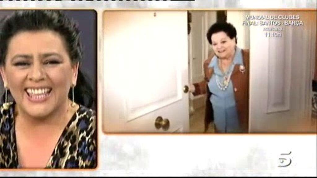 María recibe una sorpresa de su madre